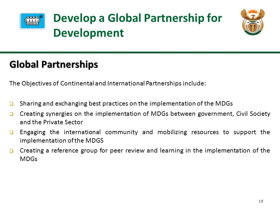Develop a Global Partnership for Development