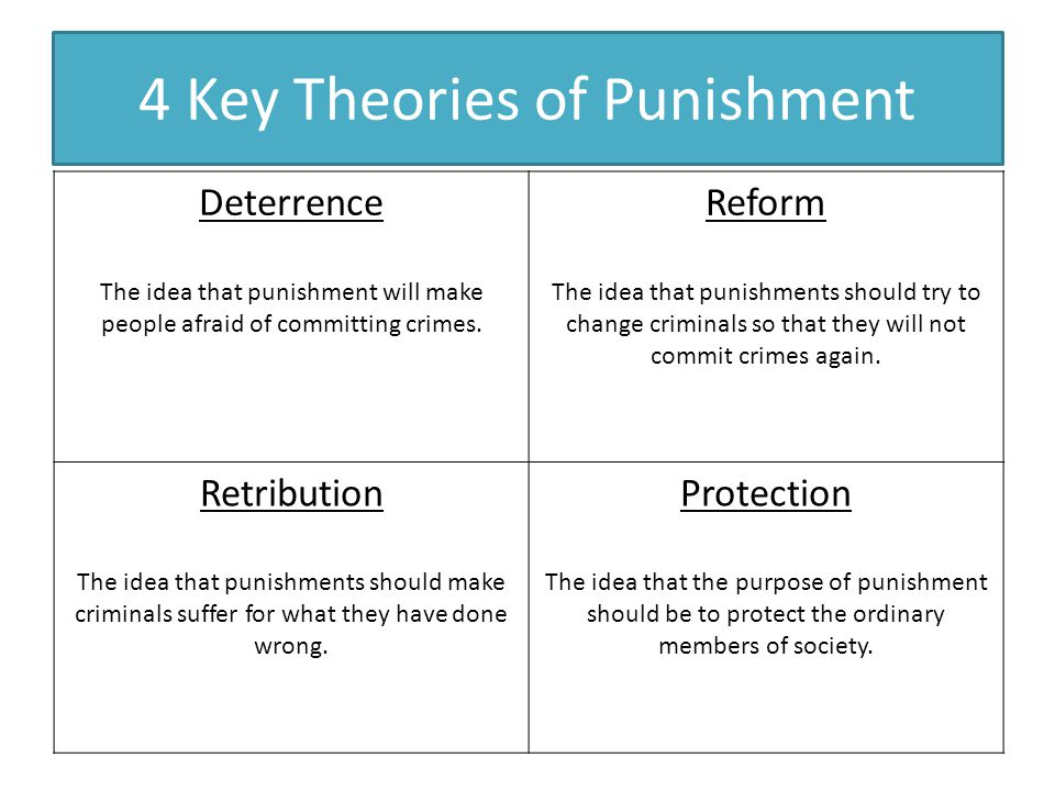 philosophy of punishment deterrence general and The philosophy of incapacitation depends on the ability of the  general deterrence theory focuses on reducing the  , punishment, incapacitation, and public .