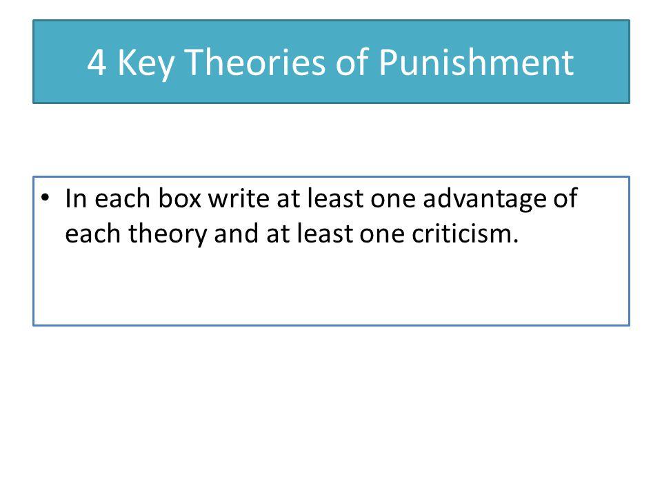 4 Key Theories of Punishment