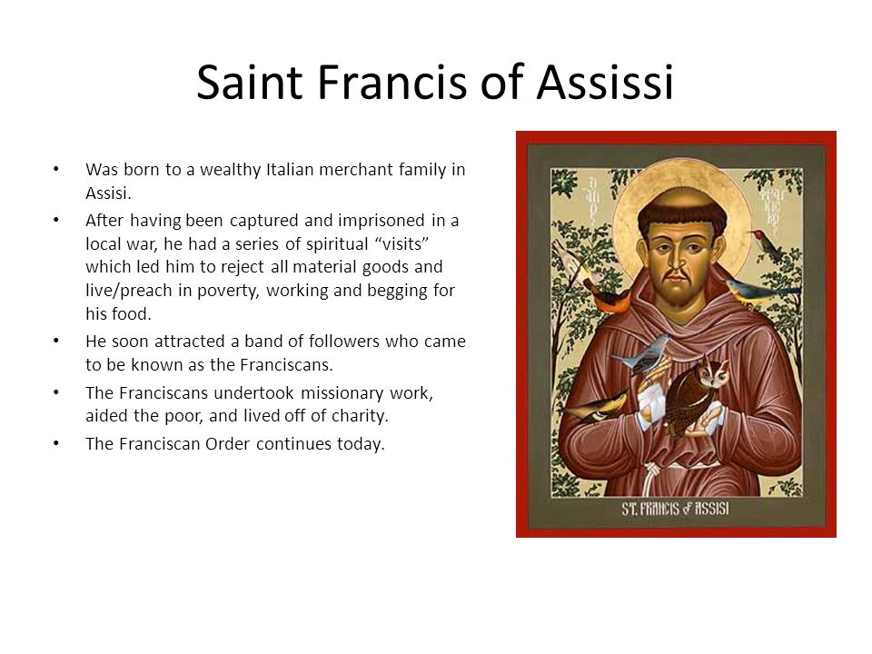Saint Francis of Assissi
