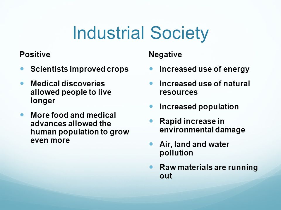 Industrial Society Positive Scientists improved crops