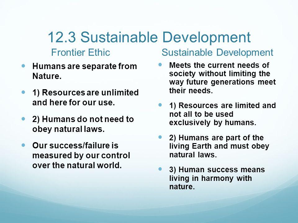 12.3 Sustainable Development