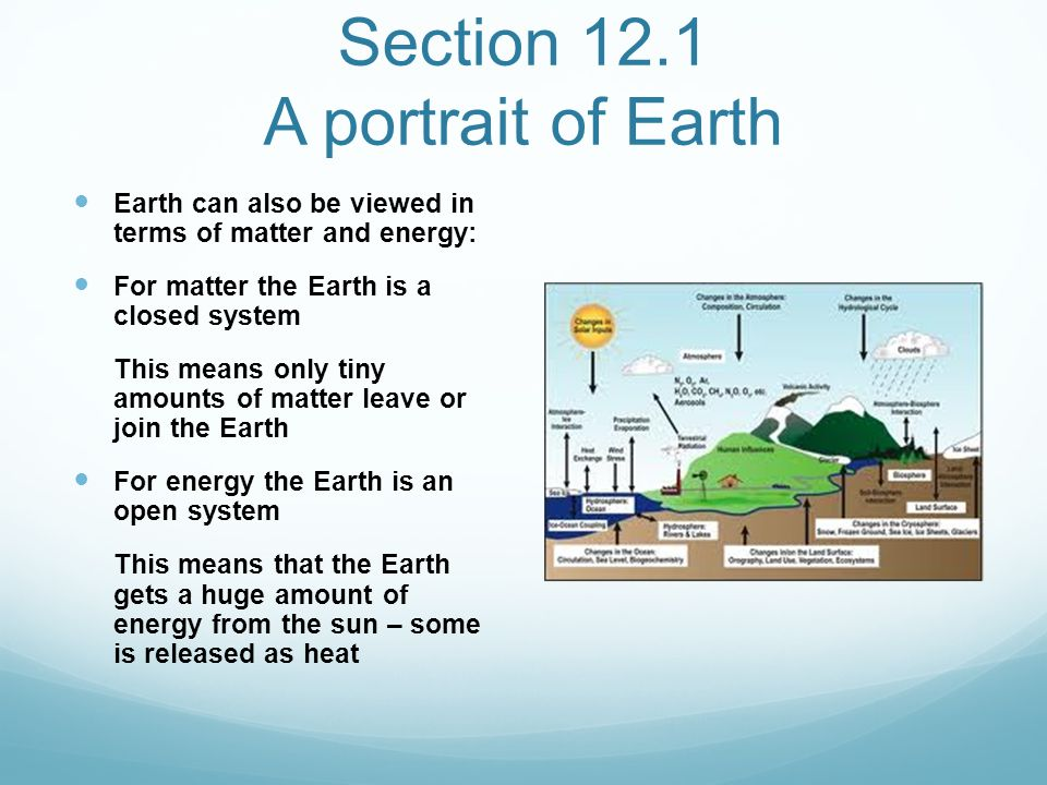 Section 12.1 A portrait of Earth