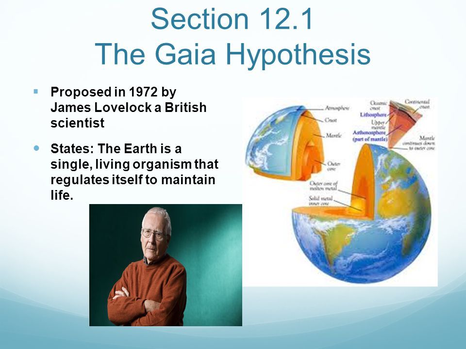 Section 12.1 The Gaia Hypothesis