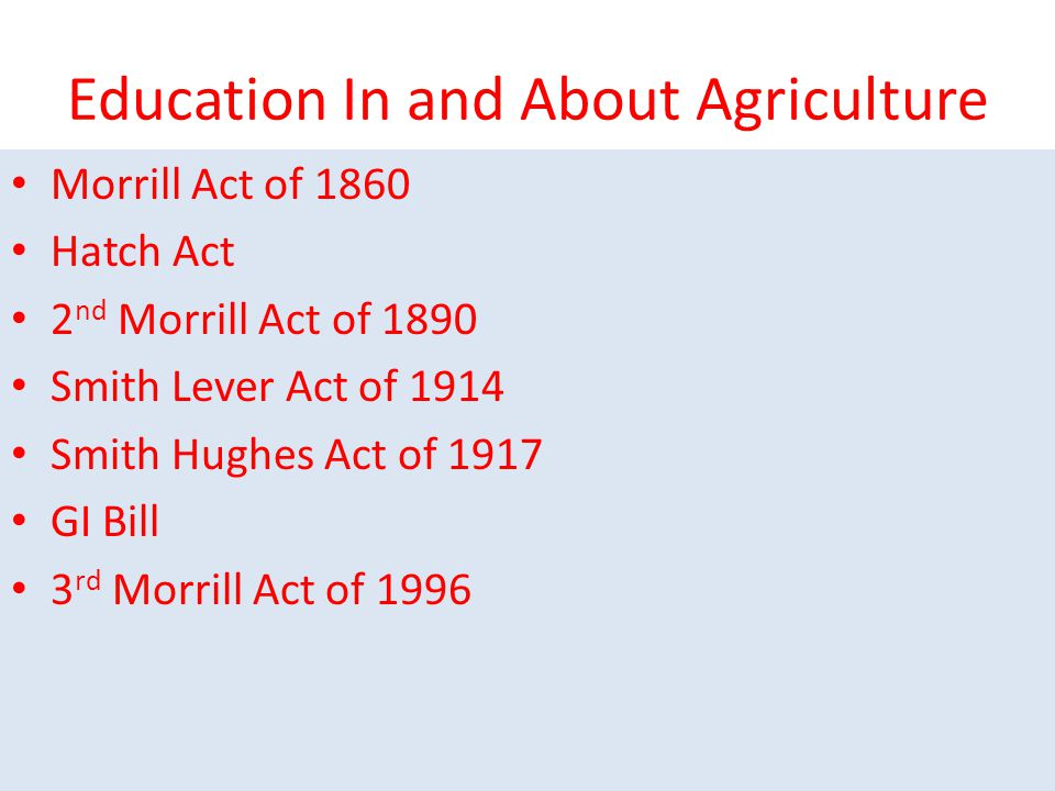 Education In and About Agriculture