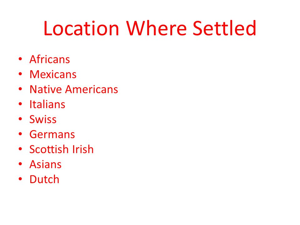 Location Where Settled