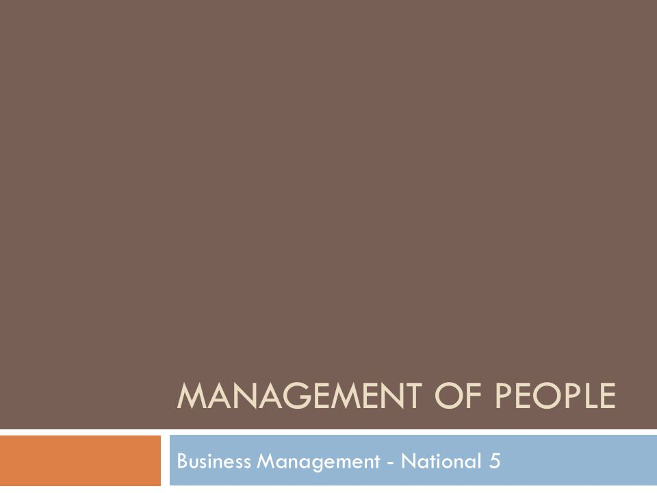 Business Management - National 5