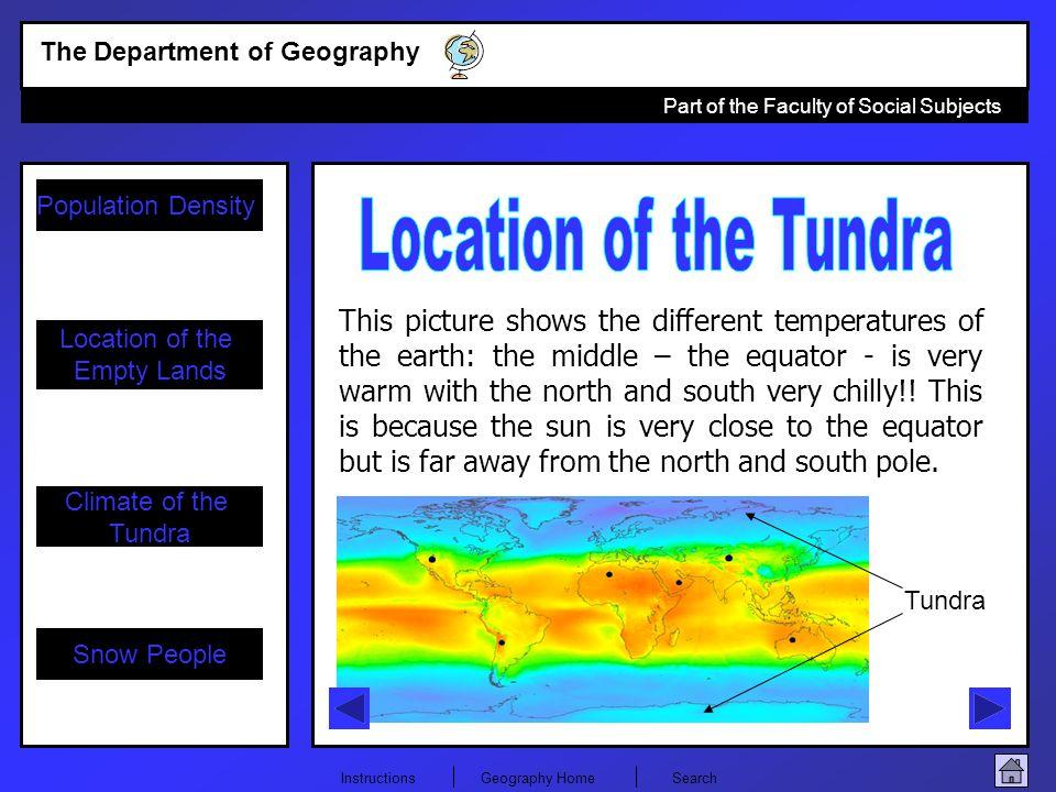 Location of the Tundra