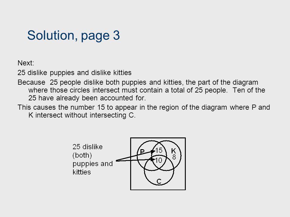 Solution, page 3 Next: 25 dislike puppies and dislike kitties
