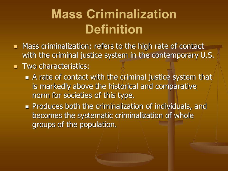 Mass Criminalization Definition