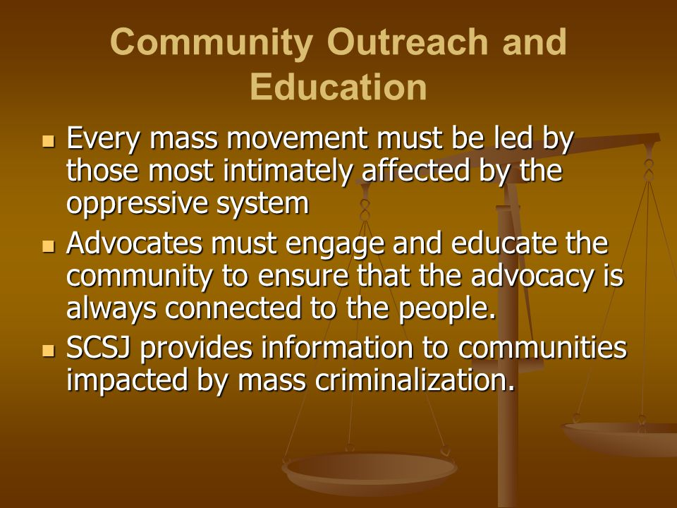 Community Outreach and Education