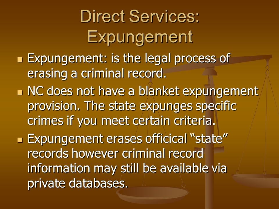 Direct Services: Expungement
