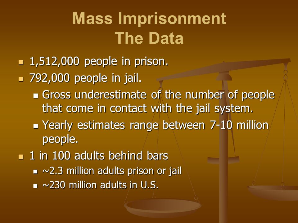 Mass Imprisonment The Data