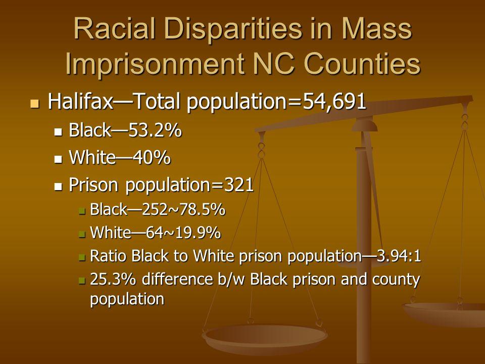 Racial Disparities in Mass Imprisonment NC Counties