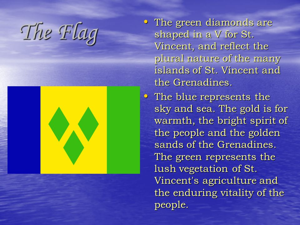 The green diamonds are shaped in a V for St