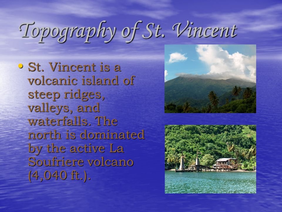 Topography of St. Vincent