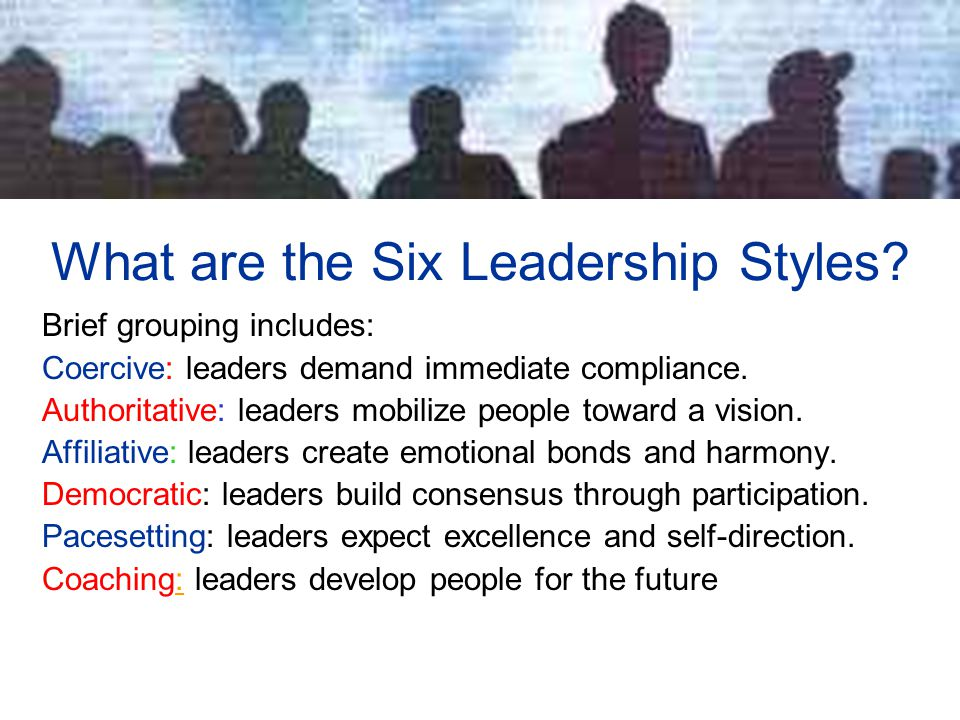 What are the Six Leadership Styles