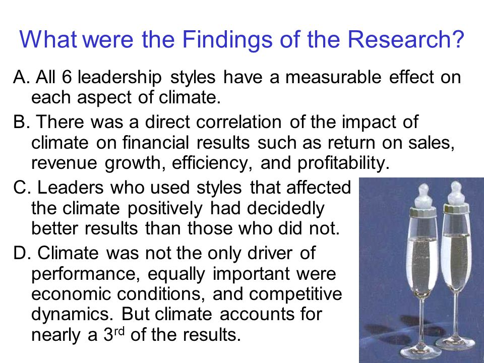 What were the Findings of the Research