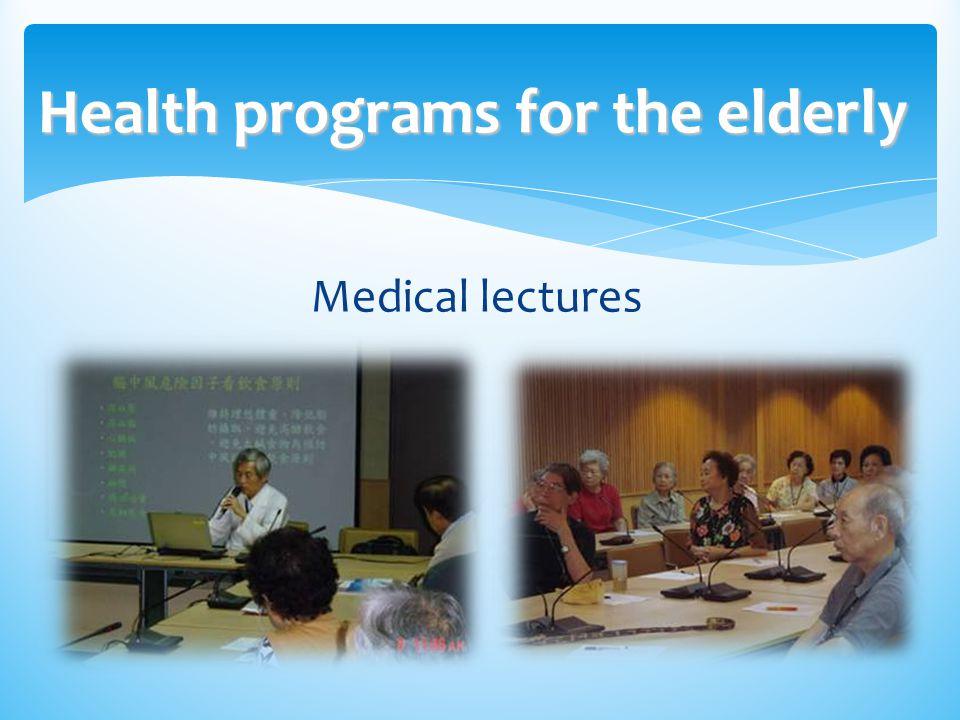 Health programs for the elderly