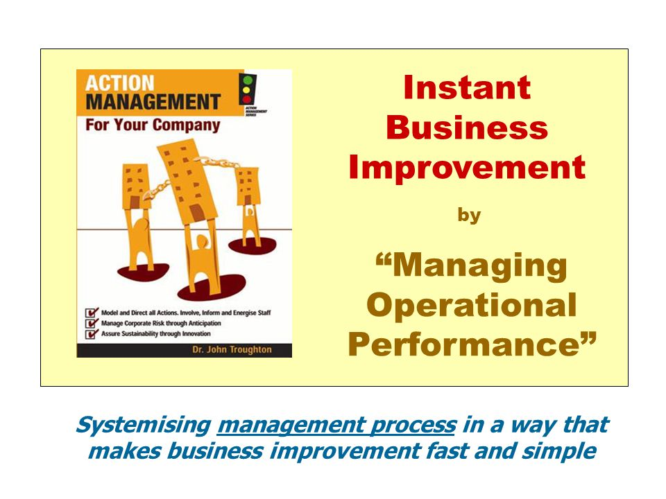 Instant Business Improvement Managing Operational Performance