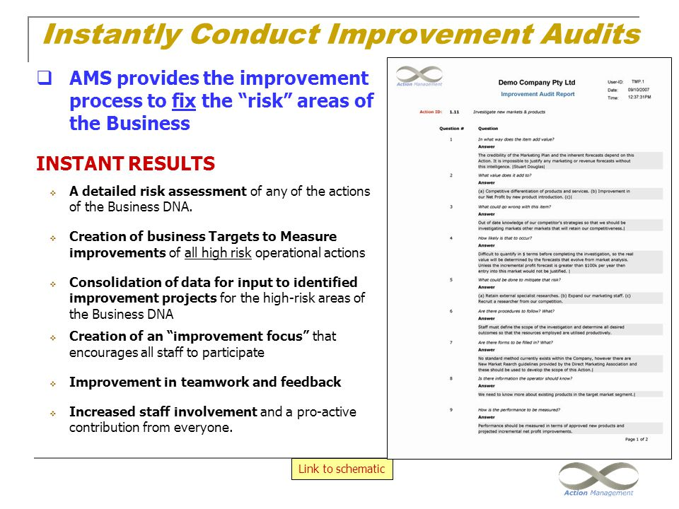 Instantly Conduct Improvement Audits