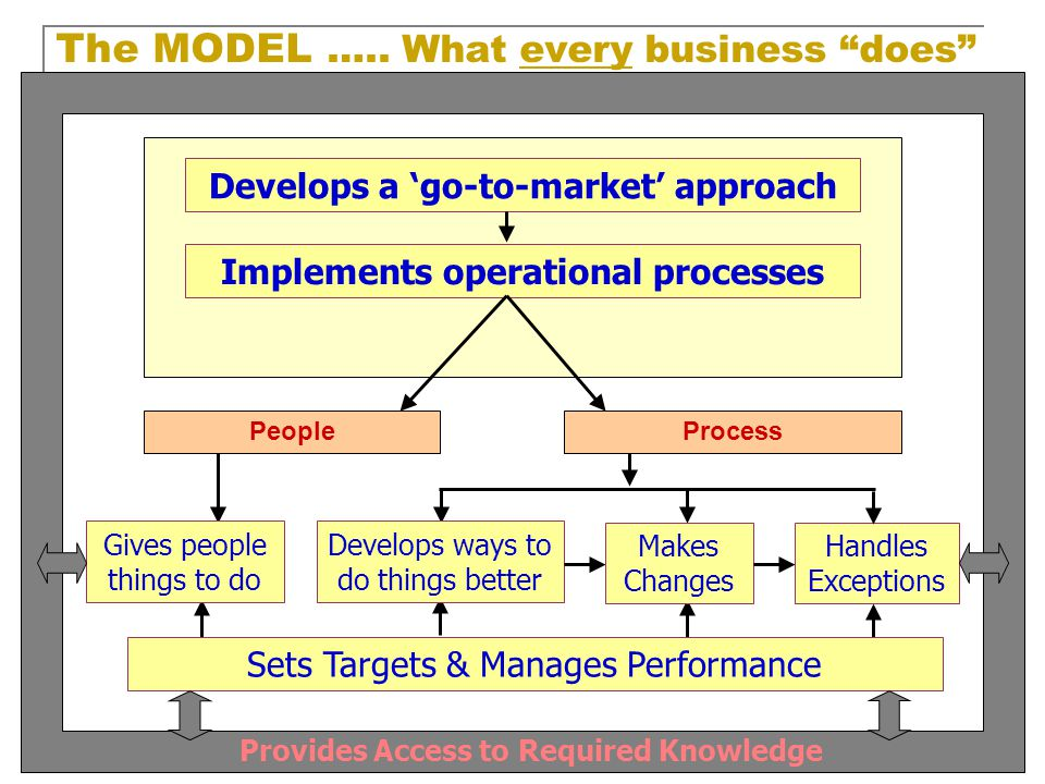 The MODEL ….. What every business does