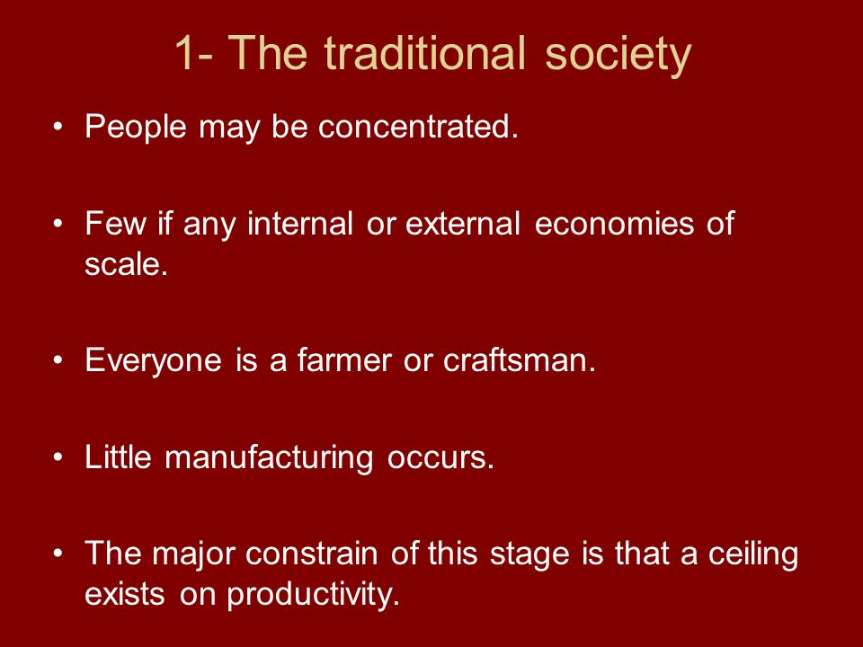 1- The traditional society