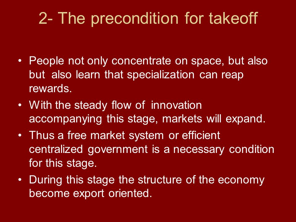 2- The precondition for takeoff