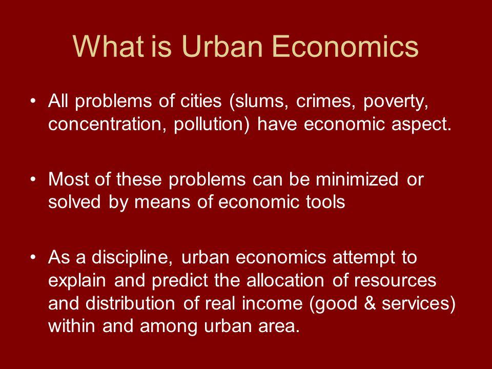 What is Urban Economics