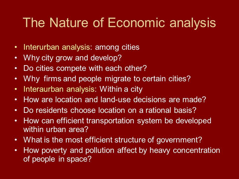 The Nature of Economic analysis