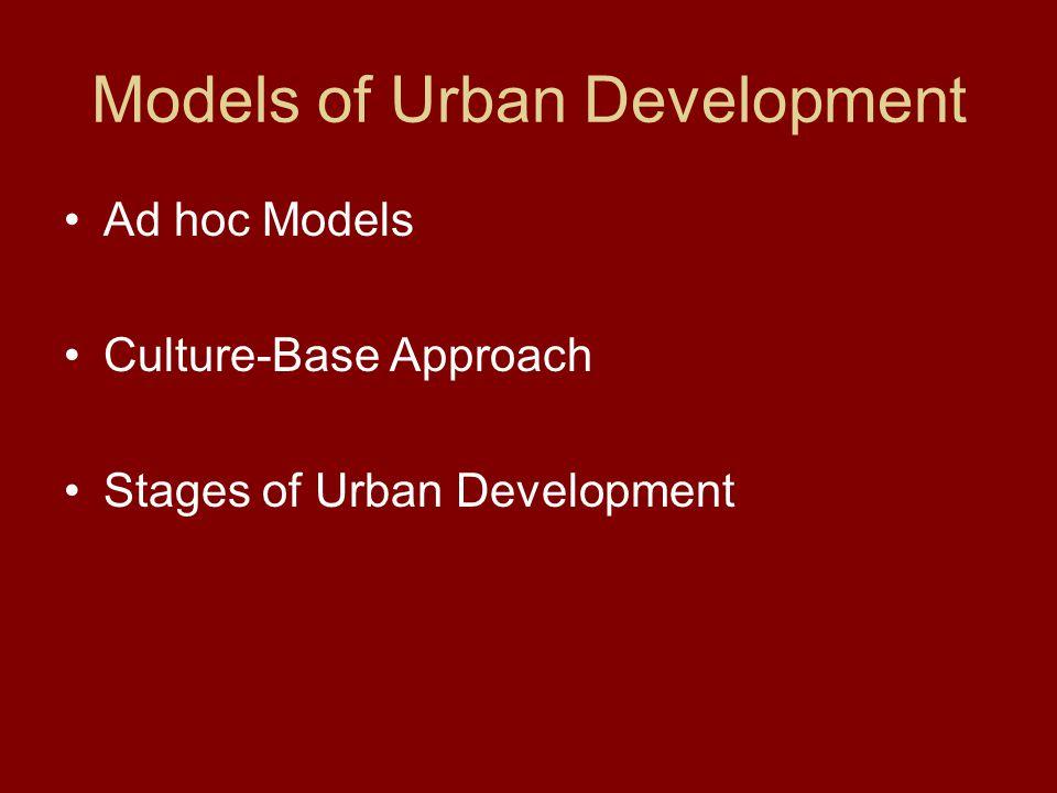 Models of Urban Development