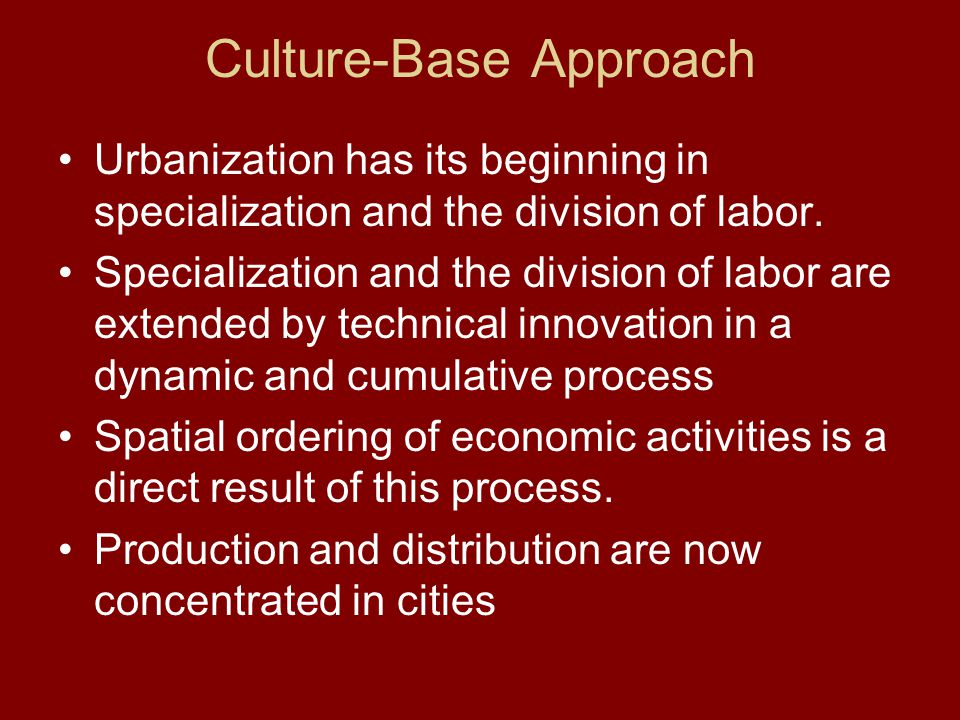 Culture-Base Approach