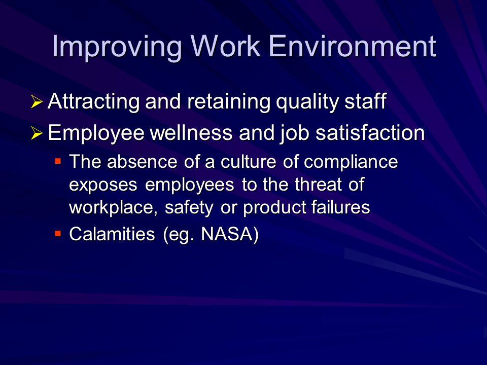 Improving Work Environment