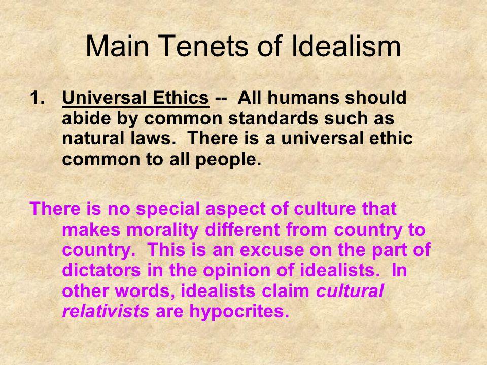 Main Tenets of Idealism