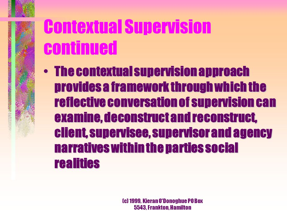 Contextual Supervision continued