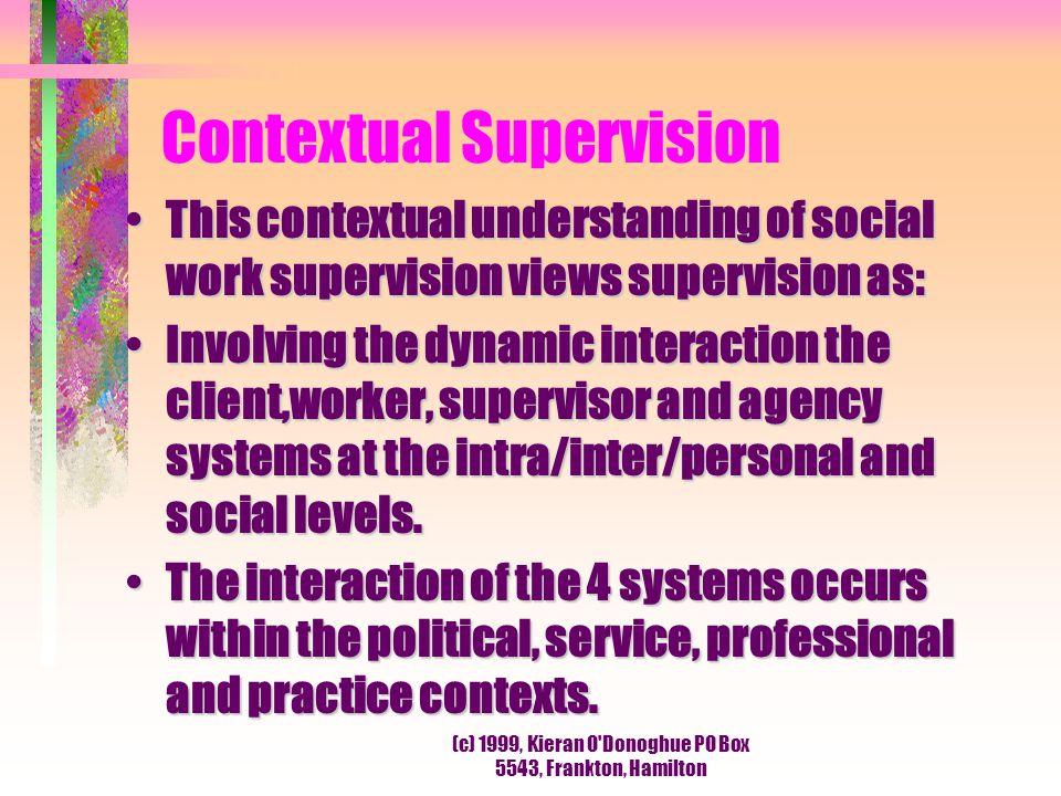 Contextual Supervision