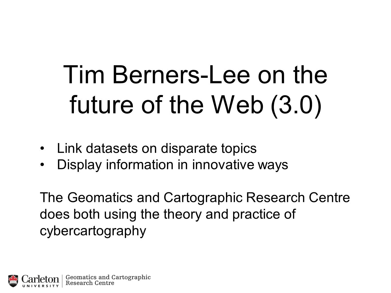 Tim Berners-Lee on the future of the Web (3.0)