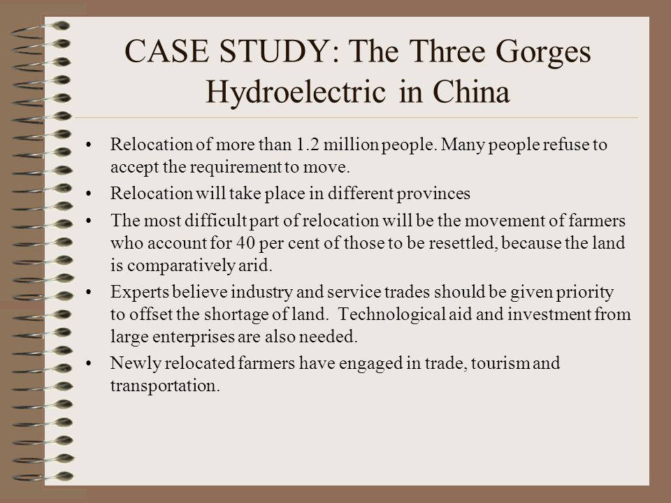 CASE STUDY: The Three Gorges Hydroelectric in China