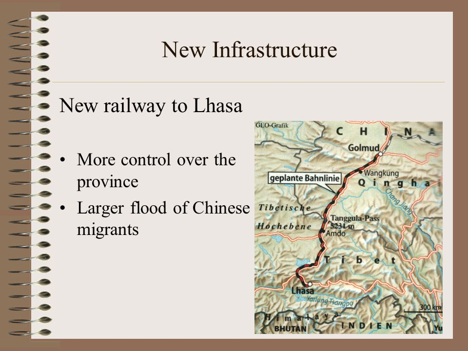 New Infrastructure New railway to Lhasa More control over the province