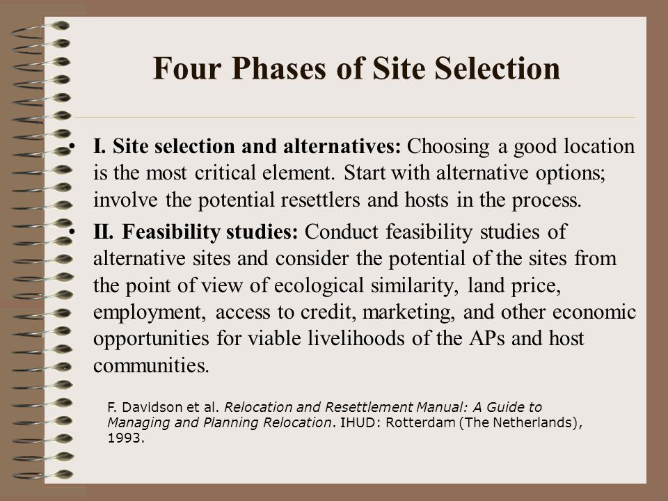 Four Phases of Site Selection