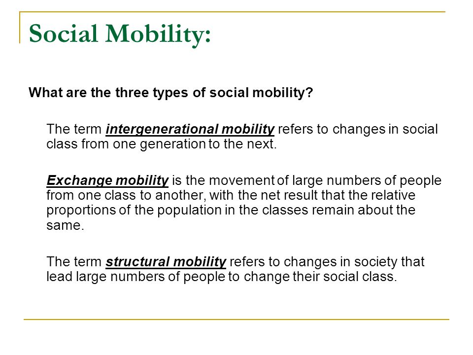 Social Mobility: What are the three types of social mobility
