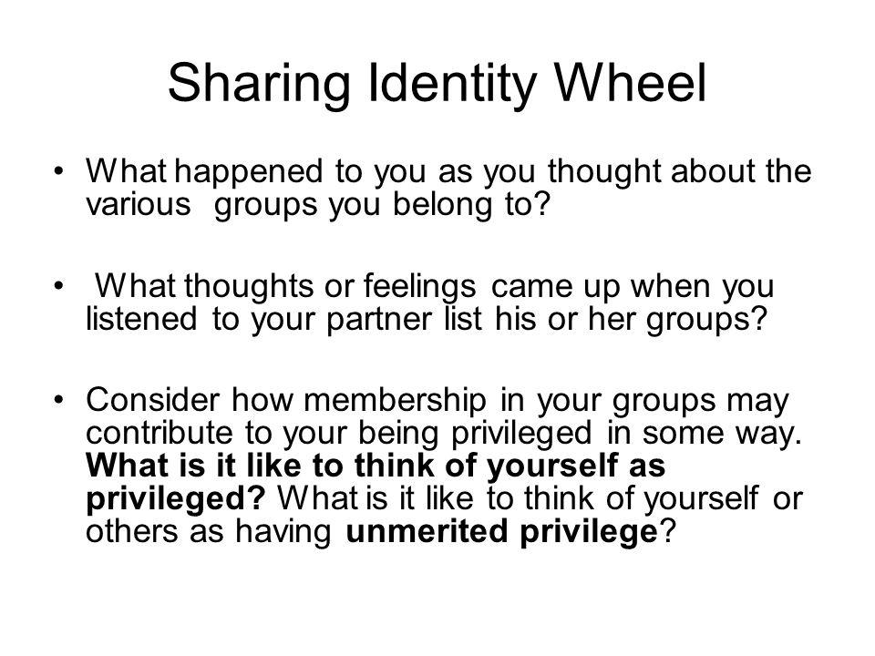 Sharing Identity Wheel