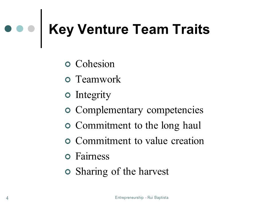Key Venture Team Traits