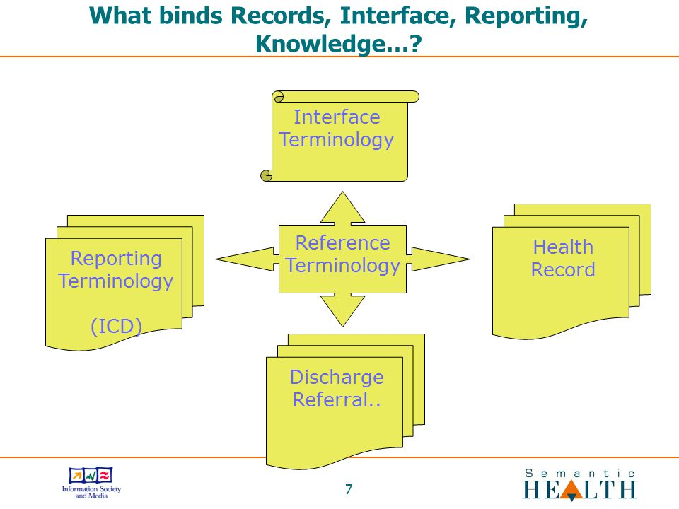 What binds Records, Interface, Reporting, Knowledge…