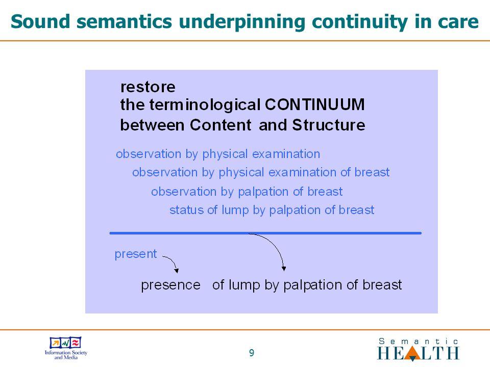 Sound semantics underpinning continuity in care