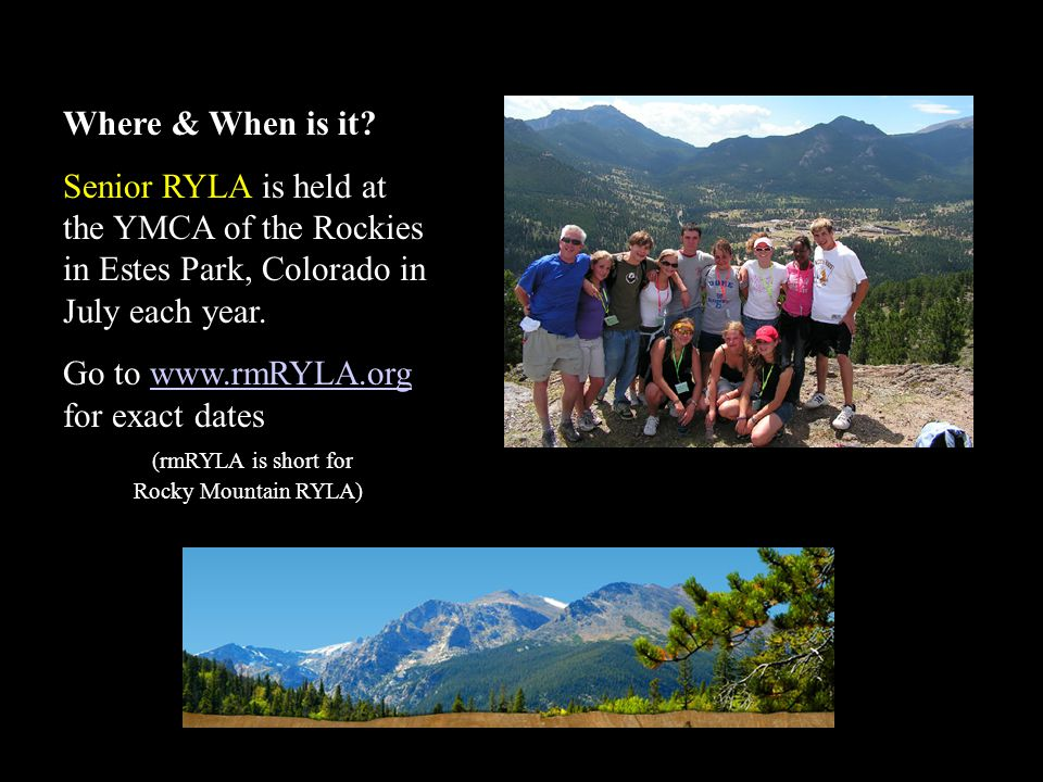 (rmRYLA is short for Rocky Mountain RYLA)