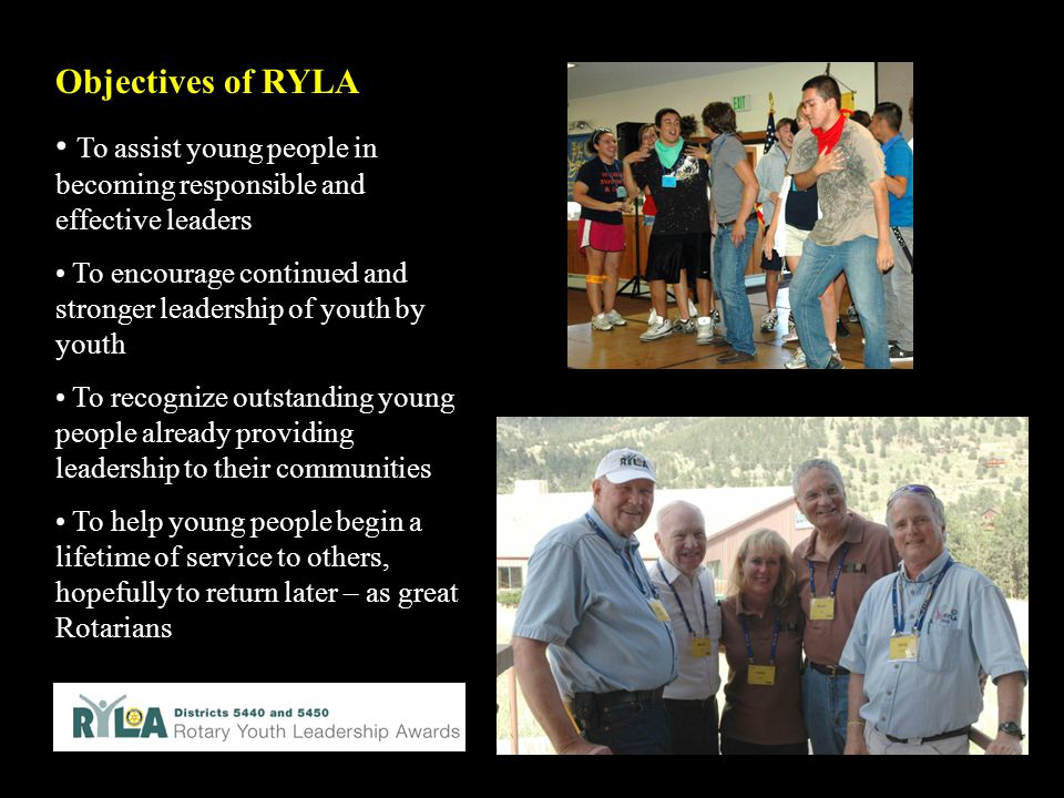To assist young people in becoming responsible and effective leaders