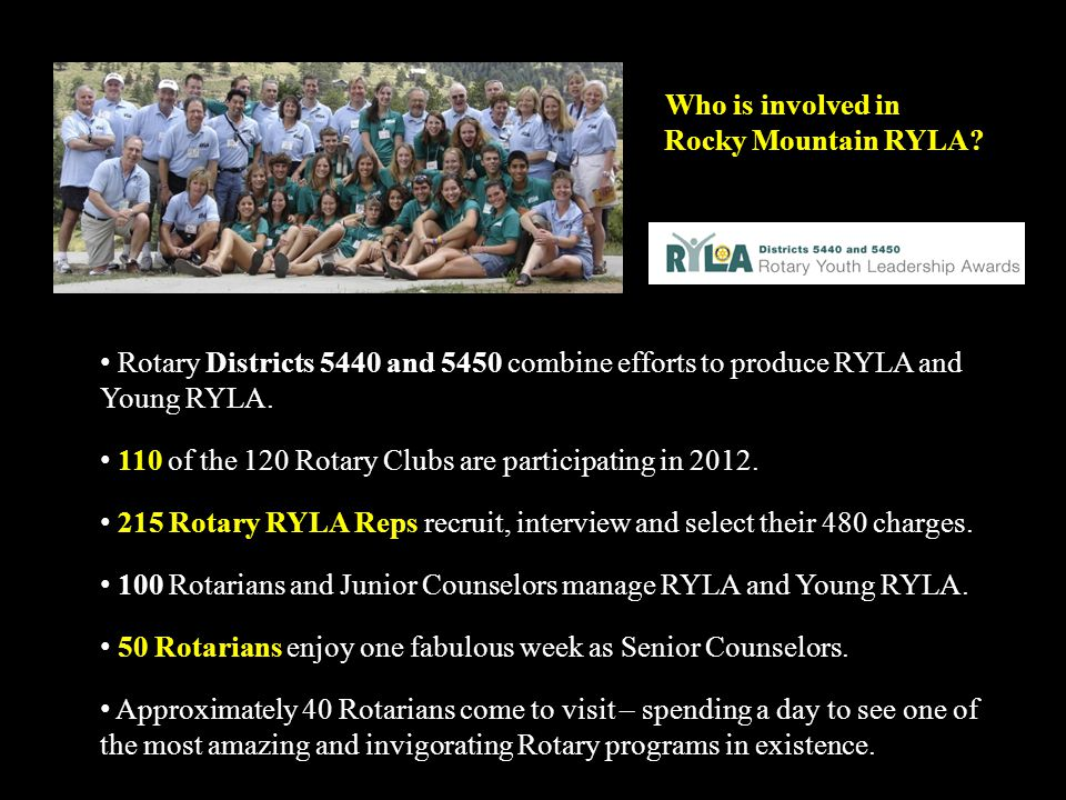 Who is involved in Rocky Mountain RYLA