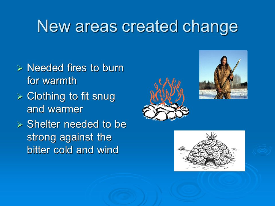 New areas created change