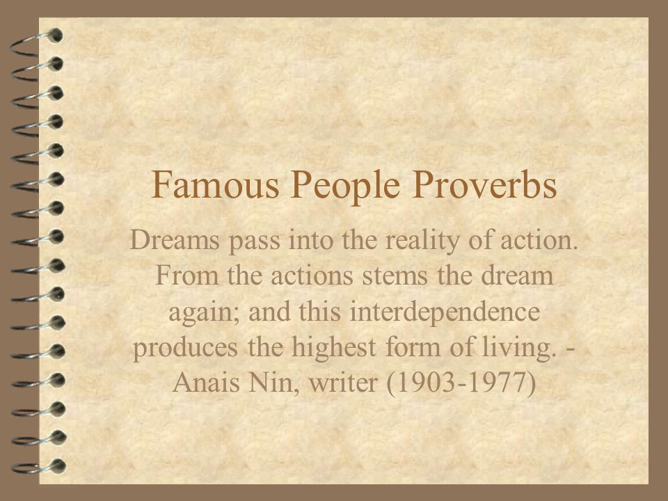 Famous People Proverbs